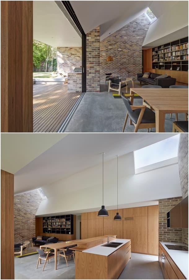 comedor cocina casa con tragaluces Andrew Burges Architects
