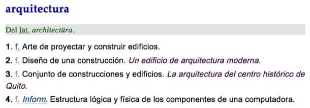 Definición Arquitectura (RAE)