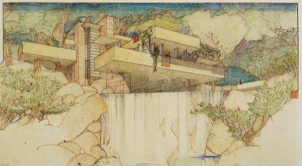 Casa de la Cascada (1935), por Frank Lloyd Wright