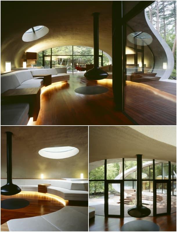 interior sala Residencia Shell Japon