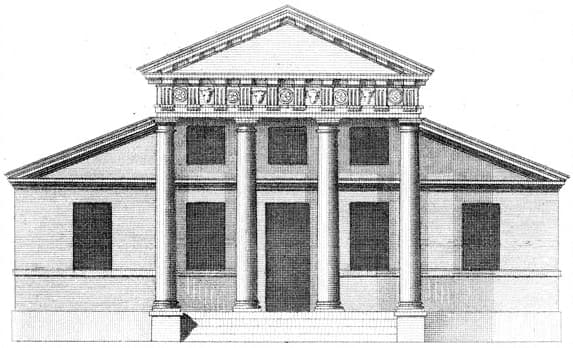 típica fachada palladiana