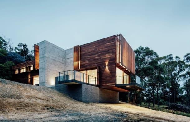 Invermay House: vivienda en ladera con vistas al campo