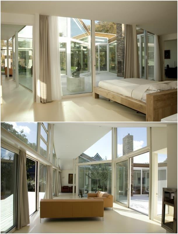 Villa BH - interior sala y dormitorio