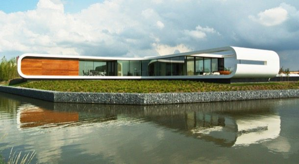 Villa New Water: moderna casa con sótano