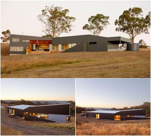 casa solar en Tasmania - exteriores