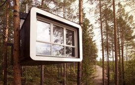 The Cabin: refugio prefabricado de TreeHotel