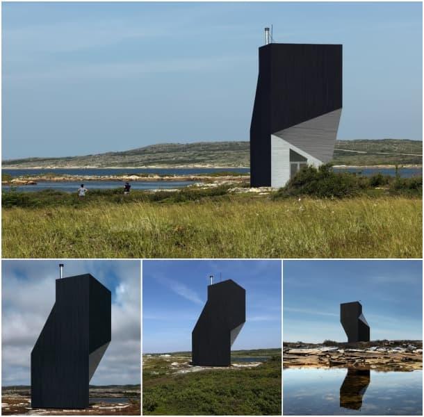 exteriores moderno refugio vertical Isla Fogo