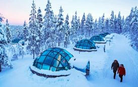Kakslauttanen: refugios con forma de iglús de cristal