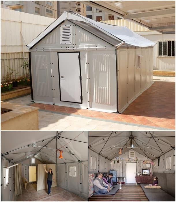 interior exterior refugio prefabricado de IKEA