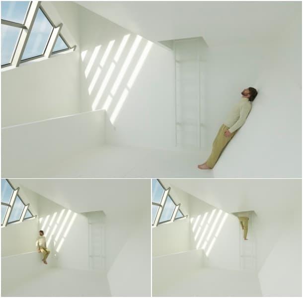 interior moderno refugio para un artista