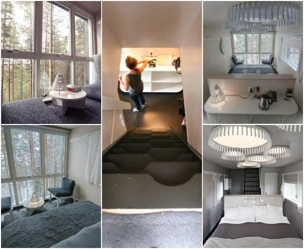 interior refugio The Cabin - Treehotel