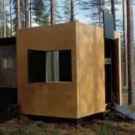 moderno refugio finlandes madera