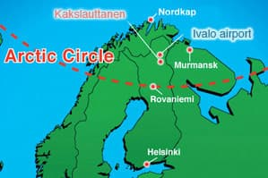 plano situación Laponia Kakslauttanen