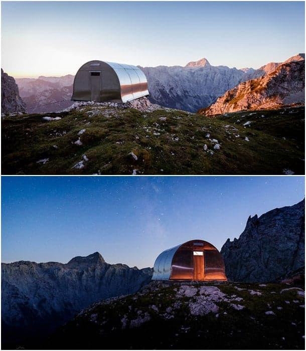 refugio alpino Bivak II Triglav Eslovenia