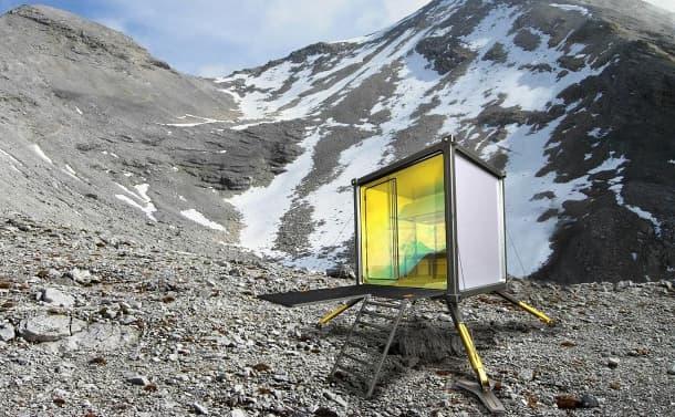 Rifugio: refugio alpino prefabricado
