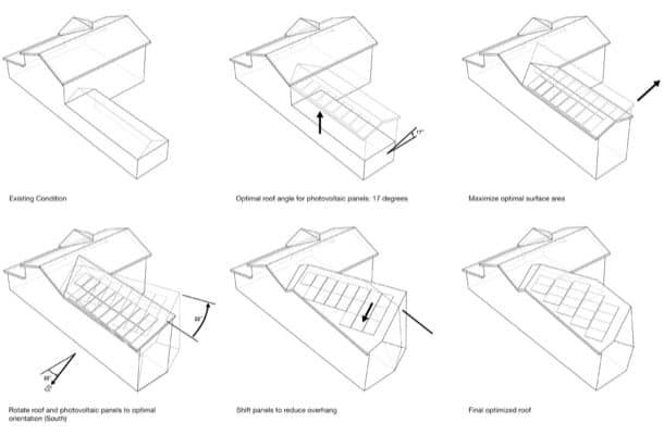 vivienda SLRSRF plano justificacion cubierta solar