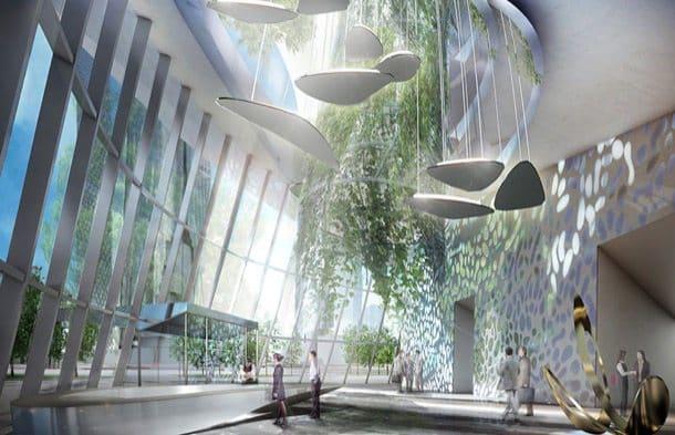 Flying Garden Tower Frankfurt - interior