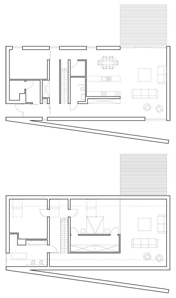 L House - planos planta - Moomoo Architects