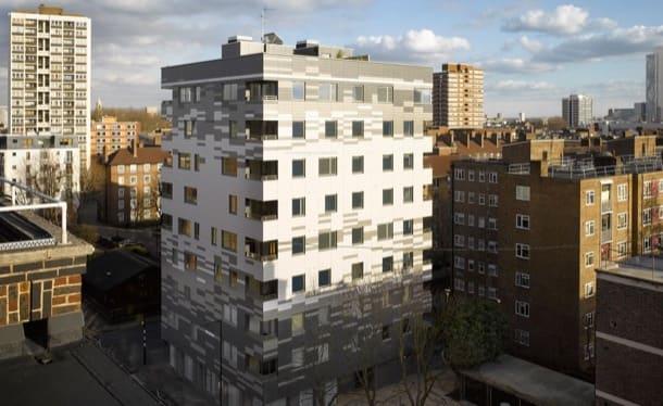 Apartamentos en Londres con estructura de madera