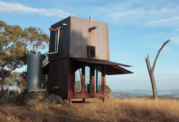 Permanent Camping - Australia - refugio prefabricado de madera y cobre