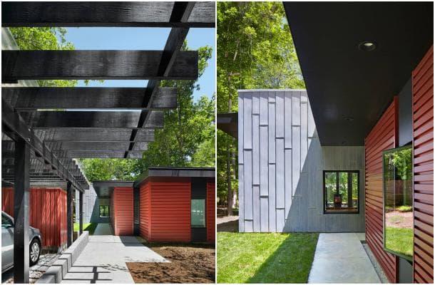 Residencia Aiyyer casa sostenible de una planta