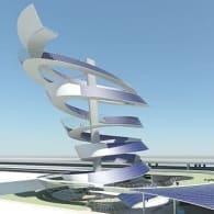 Solar Spiral edificio 5000 placas solares