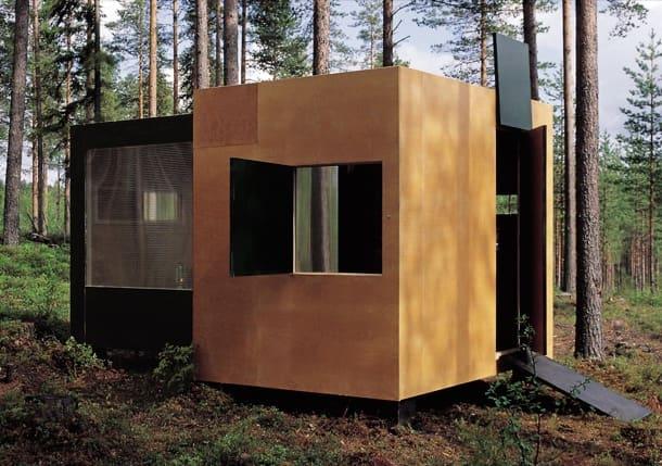 Summer-Container: un refugio de paneles contrachapados