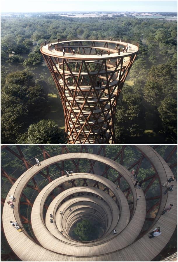 The Treetop Experience mirador en espiral