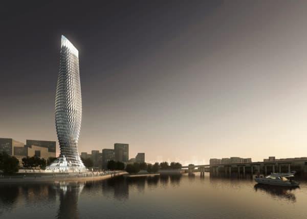 Torre Observación Doumen desde rio