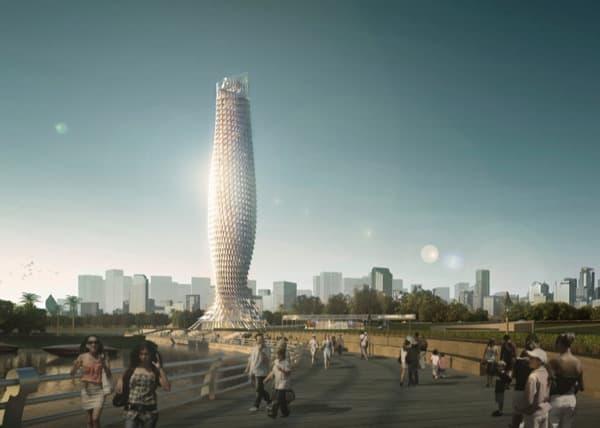 Torre mirador de Doumen paisaje urbano