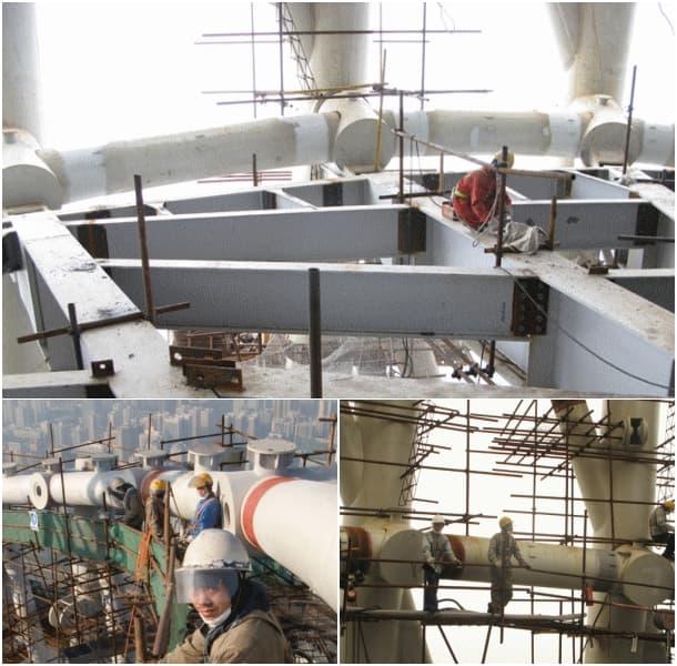 construcción Torre de Canton Guangzhou China
