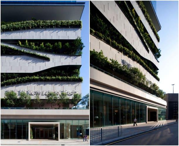 detalles fachada torre 18 Kowloon East