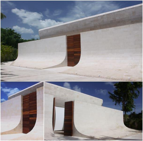 entrada villa de lujo en Casa de Campo - A-Cero