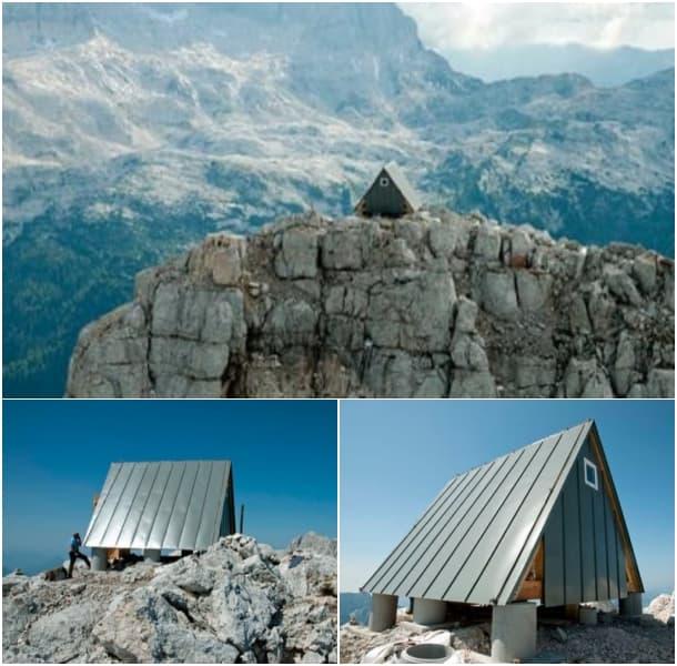 exterior refugio prefabricado Luca Vuerich