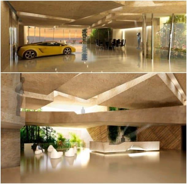 interior torre Agora Garden de Fernando Menis