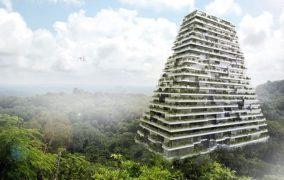 Torre piramidal de apartamentos (México)