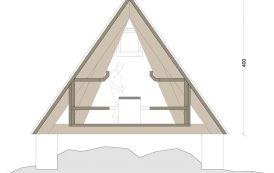 Refugio de madera en los Alpes Julianos