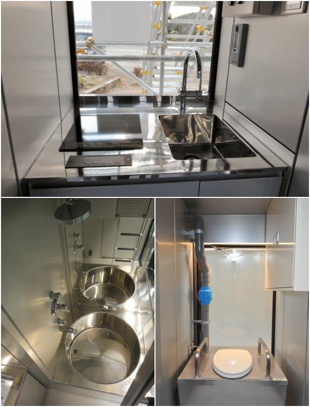 refugio EDV-01 cocina y baño