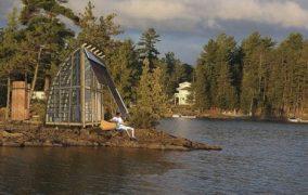 AerieLOFT: refugio prefabricado de madera