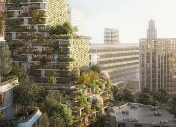 Torre Wonderwoods: proyecto de uso mixto (Utrecht)