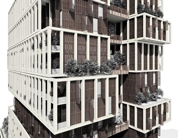 NEF Flats 163 Estambul - render fachada