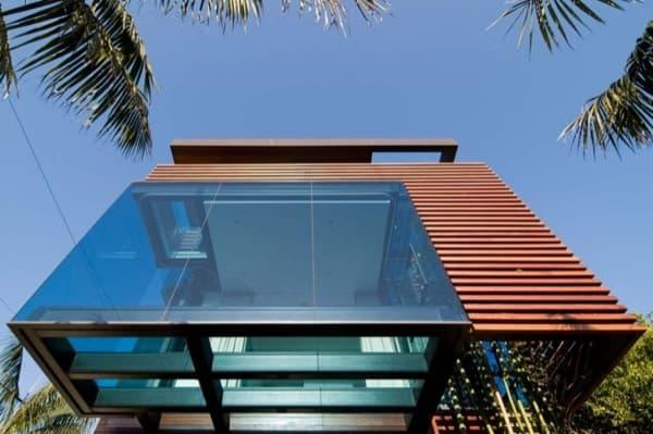 Residencia Ettley terrazas con piso vidrio