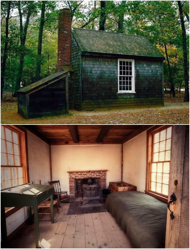 casa diminuta de David Thoreau