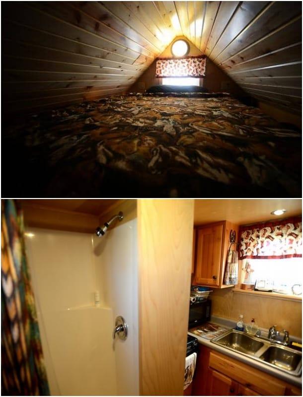 cocina baño altillo casa rodante Alicia Harris