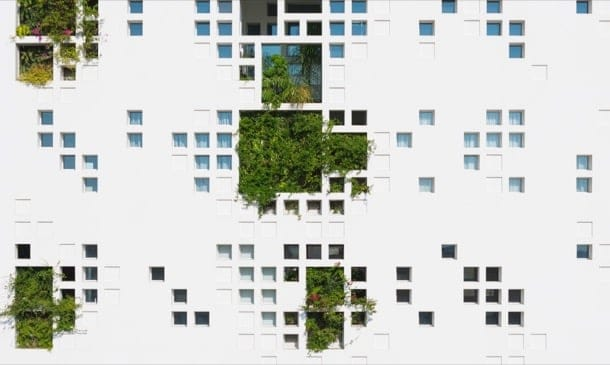 Edificio con vegetación (Nicosia), de Jean Nouvel
