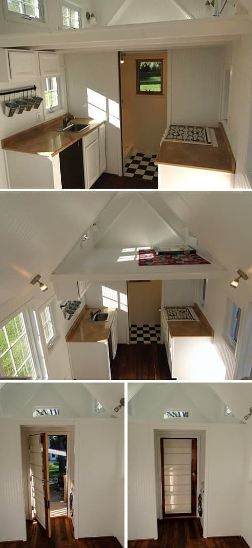 interior pequeña casa sobre ruedas