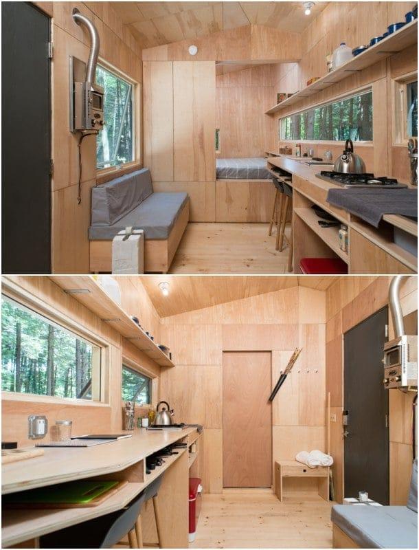 interior pequeña vivienda móvil Lorraine