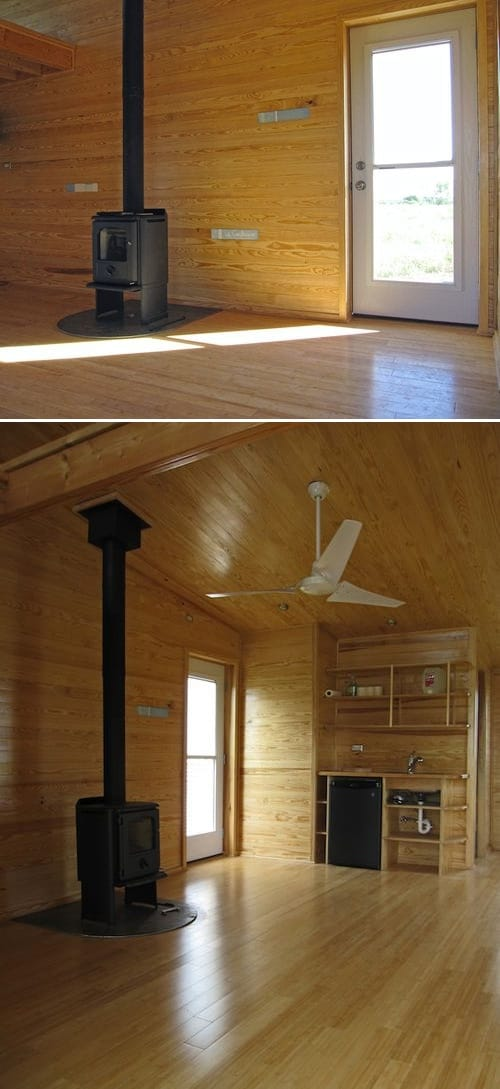 interior refugio ecologico Sustainable Cabin