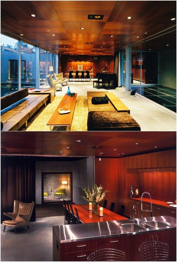 lujosa casa con oficina - Prospect House - sala comedor cocina