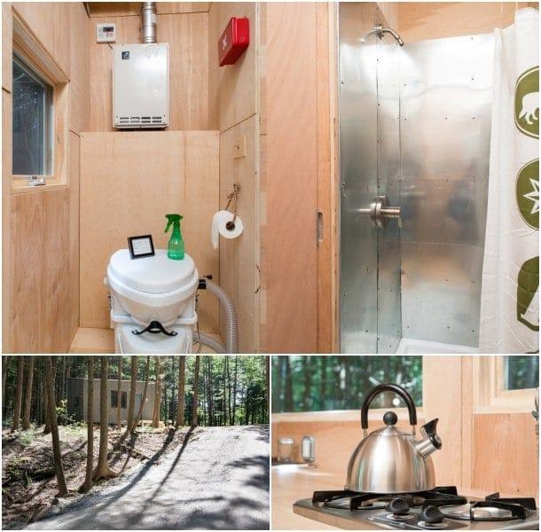 pequeña vivienda con interior de madera - Lorraine